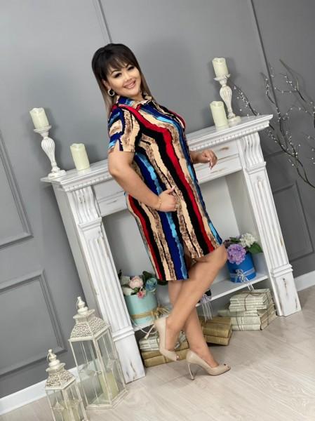 Платье-рубашка штапель